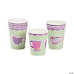 8 Tea Party Paper Cups
