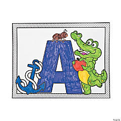 ABC Poster Coloring Set