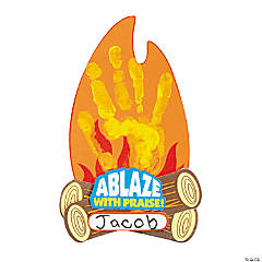 Ablaze with Praise Handprint Craft Kit