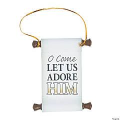 Adore Him Scroll Ornaments