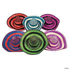 Adult Bright Stripe Sombrero Assortment