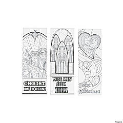 Adult Color Your Own Nativity Bookmarks