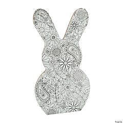 Adult Coloring Bunny Sign
