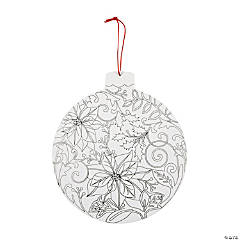 Adult Coloring Christmas Ornament Sign