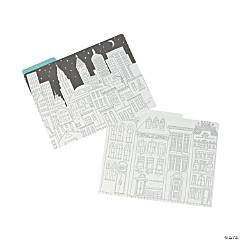 Adult Coloring Cityscape File Folders