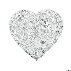 Adult Coloring Heart Sign