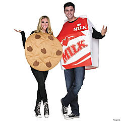 Adult Cookies & Milk Couples Costumes