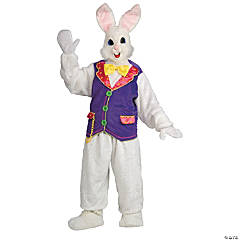 Adult Deluxe Bunny Costume With Vest