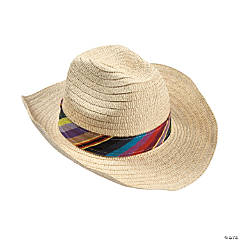 Adult Fiesta Hat with Colorful Band