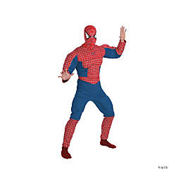 Adult Man's Muscle Chest Spiderman Costume