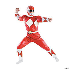 Adult Man's Red Power Ranger Costume