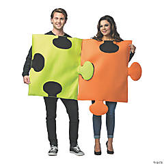 Adult Puzzle Pieces Couples Costumes