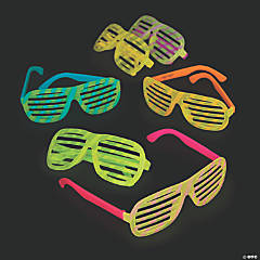 Adult's Bright Color Glow-in-the-Dark Shutter Glasses