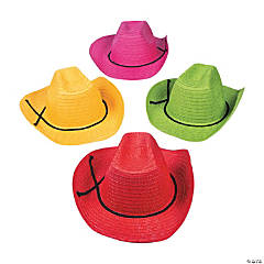 Adult's Colorful Cowboy Hats