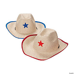 Adult's Cowboy Hats with Star Assortment