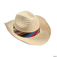 Adult's Fiesta Hats with Colorful Band