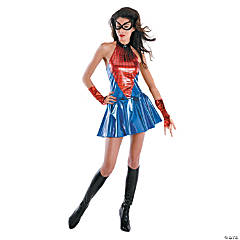 Adult Woman's Deluxe Black Spider Girl Costume