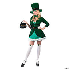 Adult Women's Lady Leprechaun Costume