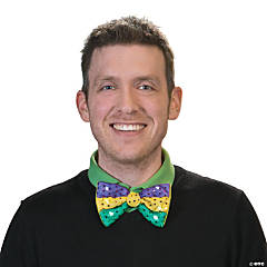 Adult's Mardi Gras Light-Up Bow Tie