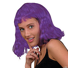 Adult's Neon Purple Pageboy Wig