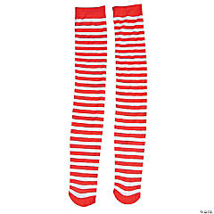 Adult's Red & White Striped Stockings
