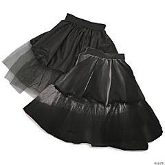 Adult's Black Petticoat