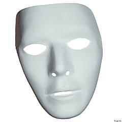 Adult's Blank Male Mask