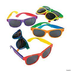 Adult's Bright Transparent Sunglasses