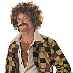 Adult's Disco Dirt Bag Wig & Mustache