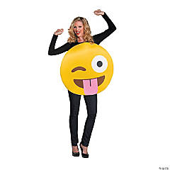 Adult's Emoji Tongue Costume