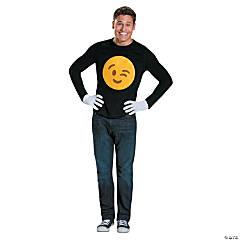 Adult's Emoji Wink Costume Kit