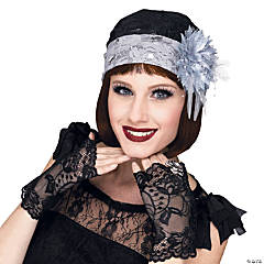 Adult's Flapper Cloche Hat & Mitts