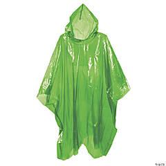 Adult's Green Rain Ponchos