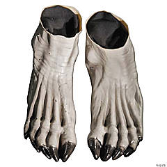 Adult's Grey Werewolf Feet