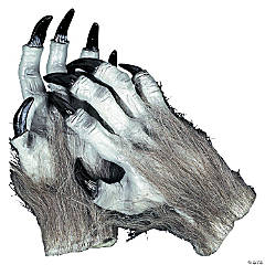 Adult's Grey Werewolf Hands
