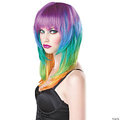 Adult's Kaleidoscope Wig
