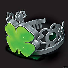 Adult's Light-Up Shamrock Tiara