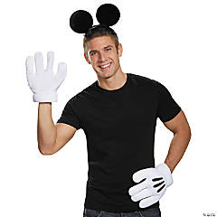 Adult's Mickey Mouse Ears and Gloves Kit