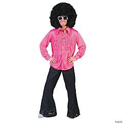 Adult's Pink Saturday Night Medium Shirt
