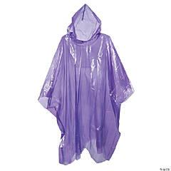 Adult's Purple Rain Ponchos