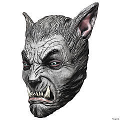 Adult's Silver Wolf Beast Mask