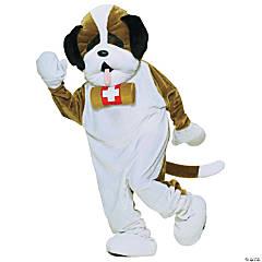 Adult's St. Bernard Puppy Dog Mascot Costume