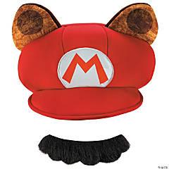Adult's Super Mario Raccoon Hat & Mustache
