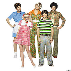 Adult's The Brady Bunch Group Costumes
