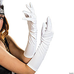 Adult's White Long Gloves