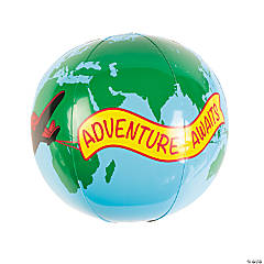 Adventure Awaits Globe Beach Balls