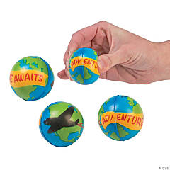 Adventure Awaits Globe Stress Balls