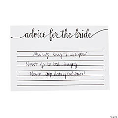 Advice for the Bride Bridal Shower Cards