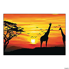 African Safari Backdrop Banner