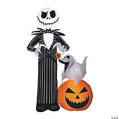 Airblown Jack Skellington with Zero Dog